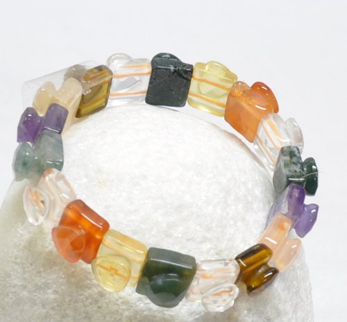 Colored Stone Heart Bracelet