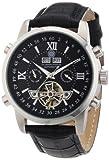 Constantin Durmont Calendar – Reloj analógico de caballero automático con correa de piel negra – sumergible a 30 metros