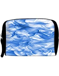 Snoogg White And Blue Smoke 2430 Travel Buddy Toiletry Bag / Bag Organizer / Vanity Pouch