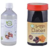 V.J.Herbals Honey Dates Syrup + Aloe Vera Juice- 500 Gm + 500Ml