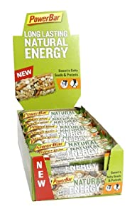 Powerbar Natural Energy Riegel Sweet'n Salty Seeds & Pretzels, 24 x 40 g, 1er Pack (1 x 960 g Packung) from Powerbar