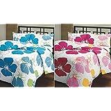 SS Sales Blue & Pink Flower Prints Reversible Single Bed AC Blanket \ Dohar Combo Set Of 2 Pc