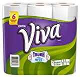 Viva Paper Towels, Choose-a-Size, White, Big Roll, 6 rolls, Pack of 4, (24 Rolls)