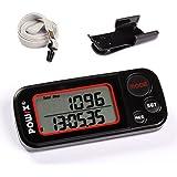 Schrittzähler / Pedometer 3D Sensor mit Kalorienmesser 30 Tage oder 7 Tage Speicher, Trainings-Modus, Tägliche Leistung Monitor, mit Tri-Axis Technik mit Uhr