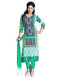 ZHot Fashion Women's Printed Un-stitched Dress Material In Cotton Fabric (ZH1005) Multi