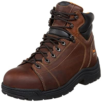 """Timberland PRO Men's 50506 Titan 6"""" Lace to Toe Safety Toe Boot,Haystack Brown,7 M"""