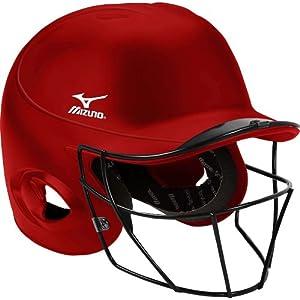 Mizuno Mbh250 Mvp G2 Batting Helmet With Fp Mask (S M) by Mizuno