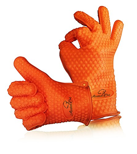 Best Prices! Abundant Chef® Silicone Grilling Cooking and BBQ Gloves Set: Highly Heat Resistant ★...