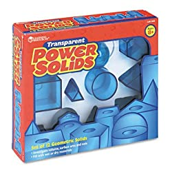 Learning Resources LER7630 Learning Resources Power Solids, Plastic, Removable Lids, 12 PCs., Ages 8+