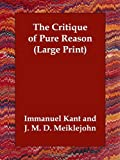 Image of The Critique of Pure Reason (Large Print)