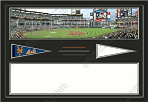 New York Mets Citi Stadium & Your Choice Of Stadium Panoramic Framed-House... by Art and More, Davenport, IA