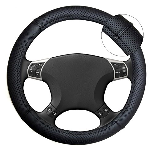 Akhan lb18 housse de volant couvre volant noir pour tous for Housse de volant chauffante