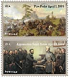 The Civil War: 1865 Souvenir Sheet of 12 USPS Forever Stamps