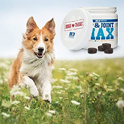 H3 Essentials - Maximum Joint Health for Dogs Suffering From Arthritis - Glucosamine, Chondroitin, MSM, Omega 3, Vitamin C, Yucca and Hyularonic Acid