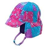 Girls Patchwork Fleece Hat Pink And Purples XLarge