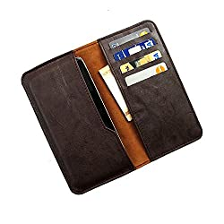 i-KitPit : PU Leather Wallet Flip Pouch Case For HTC One M8 (BROWN)