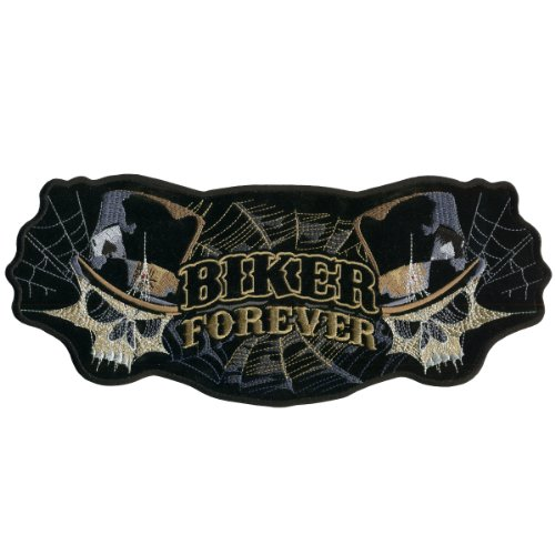 Hot Leathers Biker Forever Skull Patch (5