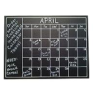 Chalkboard Calendar Wall Sticker – Bl…
