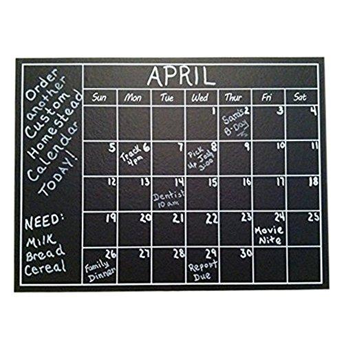 Calendario da parete, motivo: lavagna a forma di lavagna adesivo, Organizer