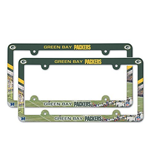 Buy Green Bay Packers NFL Plastic License Plate Frame - 2 Pack at ...
