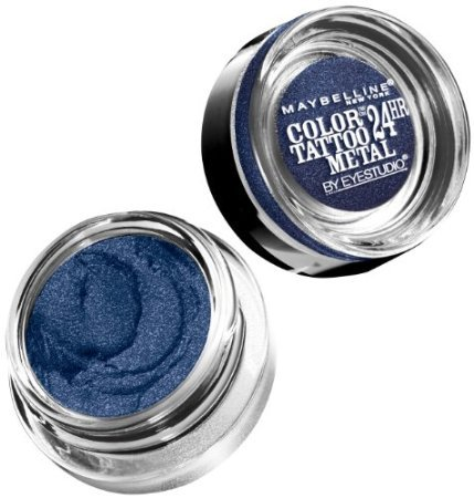 Maybelline New York Eye Studio Color Tattoo Metal 24 Hour Cream Gel Eyeshadow, Electric Blue, 0.14 Ounce