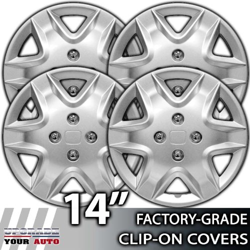 ... 2003-2005 Honda Civic 14 Inch Silver Metallic Clip-On Hubcap Covers
