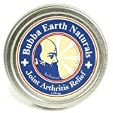Joint Arthritis Relief - Bubba Earth Naturals. Pain Relief Treatment for Inflammation Arthritis Joint Carpal Tunnel Knee Back Sciatica Plantar Fasciitis Tendonitis Neuralgia Bursitis Foot Heel Sprains Hand Hip Wrist Nerve Achilles Gout Shin Splints. Analgesic Salve Cream Ointment Gel.
