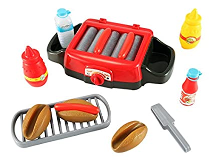 Hot-Dog-Roller-Grill-Electric-Stove-Play-Food-Kitchen-Appliance-Set-for-Kids
