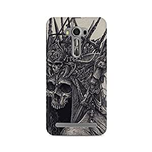 Mobicture Skull Abstract Premium Printed Case For Asus Zenfone 2 Laser ZE500