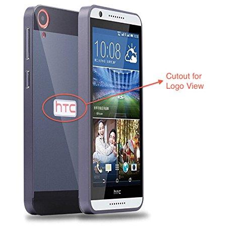 Defender Shockproof Detachable 2 in 1 Aluminium Bumper Rim + Slim Hard Case Cover for HTC Desire 820 - BLACK