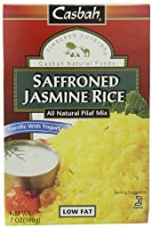 Casbah Saffroned Jasmine Mix, 7 Ounce (Pack of 12)