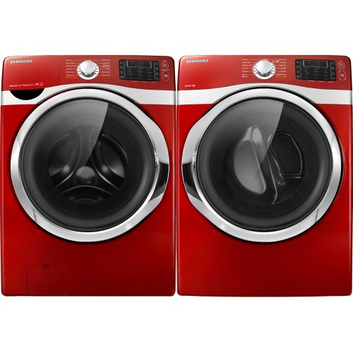 elegant samsung tango red cu ft steam powerfoam washer and steam electric dryer with lowes washer and dryer sets