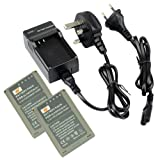 DSTE® 2pcs BLN-1 Replacement Li-ion Battery + Charger DC133U for Olympus BLN1, BCN-1 and Olympus OM-D E-M1, OM-D E-M5, PEN E-P5 Cameras