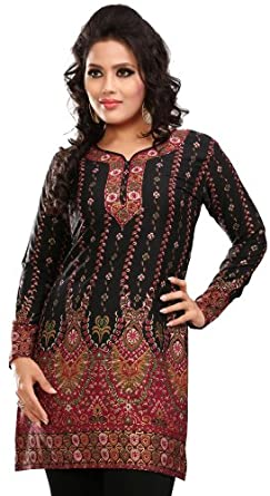 84201de382890 Indian Tunic Top Womens   Kurti Printed Blouse India Clothing (Off White)