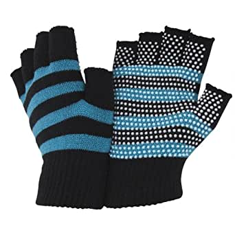 Ladies/Womens Fingerless Magic Gloves with Grip (One Size Fits All) (Blue)