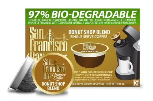 San Francisco Bay Coffee, Donut Shop Blend, 36 Onecup Single Serve Cups