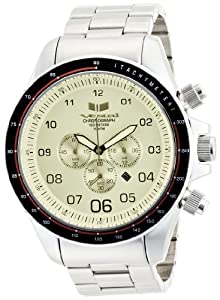 Vestal Men's ZEP015 ZR-3 Chronograph Stainless Steel Crystal Tint Watch