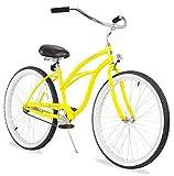 "Firmstrong Urban Lady Single Speed - Women's 26"" Beach Cruiser Bike (Yellow)"