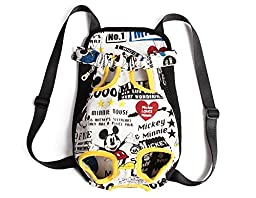 WaWa Pretty Pattern Canvas Pet Carrying Backpack(Cartoon,Large)