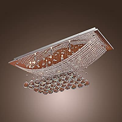 Modern Pendant Ceiling Light Crystal Lighting Dining Living Room Lamp Chandelier ;P#O455K5/U 7RK-B2676