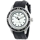 Invicta Men's 15223 Specialty Silver Textured Dial Black Polyurethane Band Watch