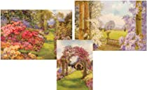 Big Sale Entertaining with Caspari Garden Scenes Blank Notecards, Set of 8