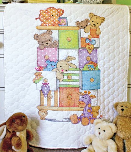 Dimensions Needlecrafts Stamped Cross Stitch, Baby Drawers Quilt front-560030