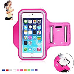 AKSHAJ Gym Jogging Running Arm band Mobile Case For Note 2 Note 3 Compatible with Mobile Phones of 5.7 Inch Size (Pink)