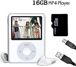 L.D Generation Écran 1.8''LCD MP4 Player Portable Lecteur MP3 Player Vidéo avec Photo Viewer, E-Book Reader, Enregistreur vocal + 16 Go Micro SD de Carte Argenté
