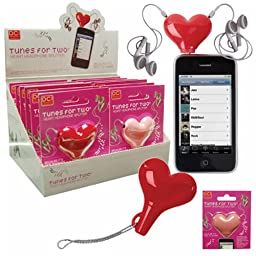 Tunes For Two® Heart Headphone Splitter Pink