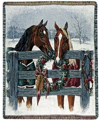 Horse Throw Blanket front-589352