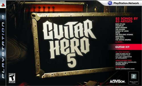 PS3 Guitar Hero 5 Guitar Bundle Amazon.com