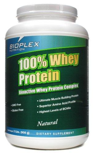 100% Whey Protein - Natural Bioplex Nutrition - 2 lbs Powder - Gluten Free