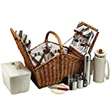 Picnic at Ascot Huntsman Basket for 4 with Coffee Service, Santa Cruz